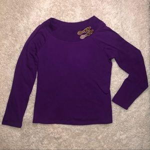 Lauren Ralph Lauren size xl purple long sleeve